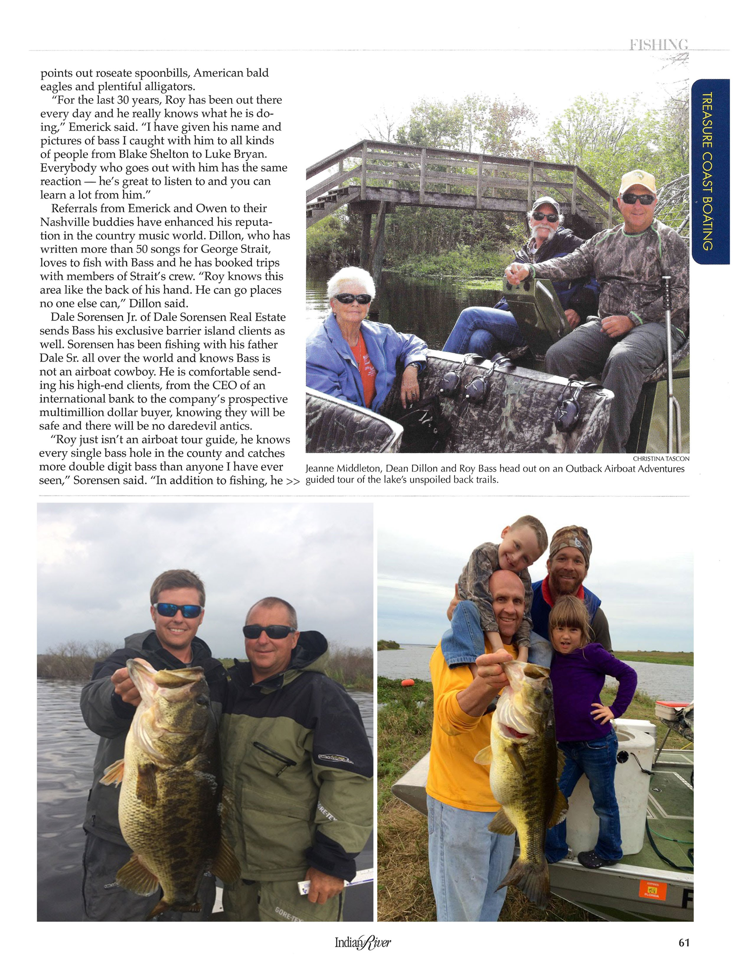 Roy Bass article in Indian River Magazine page 61